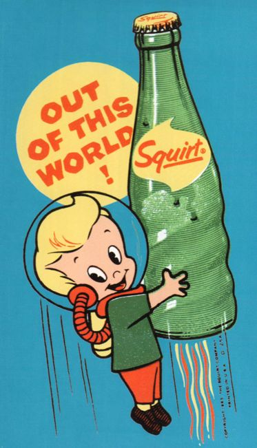 Retro space man with soda painted rock idea Old Advertisements, Retro Advertising, Retro Ads, Advertising History, Advertising Campaign, Photo Vintage, Vintage Photos, Retro Vintage, Funny Vintage Ads
