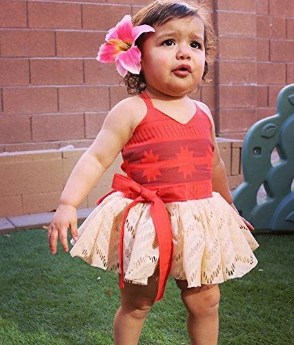 look out for on sale online look out for Amazon.com: AmzBarley Moana Costume for Baby Girls Birthday ...
