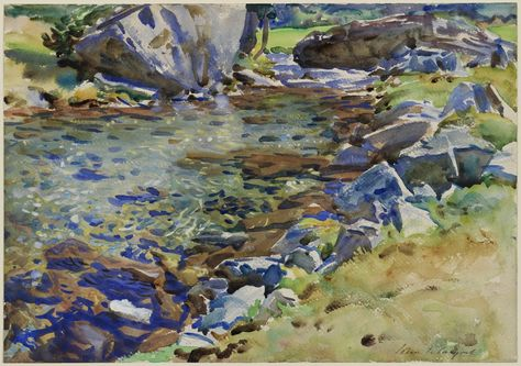 Brook Among Rocks by John Singer Sargent on Curiator, the world's biggest collaborative art collection.
