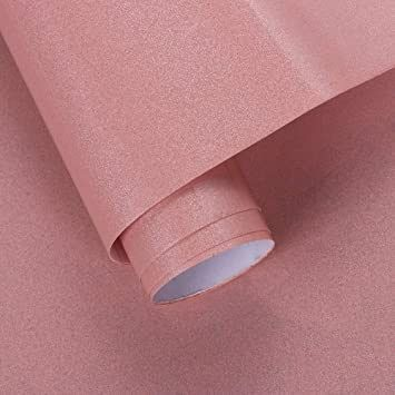 Premium Pearlized Pvc Self Adhesive Wallpaper Furniture Renovation Wallpaper Bathroom Kitchen Cab Self Adhesive Wallpaper Pink Shelves Wall Stickers Home Decor