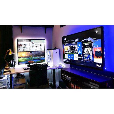 geraumiges pc game ins wohnzimmer streamen spektakuläre abbild oder dccebbffabfae pc setup desk setup