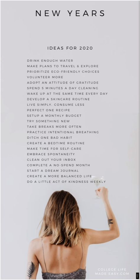doable goal ideas for List of good New Year's resolutions goals 70 New Year's Resolution Ideas (You Can Actually Keep)