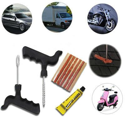 Details About Tyre Repair Kit Tire Puncture Emergency Tools Set Motorcycle Bike Car Tubeless In 2020 Tubeless Tyre Car Repair Diy Tire Repair