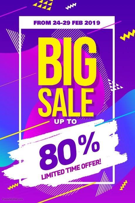 Modern Big Sale Discount Promotion Poster Flyer Template Promotional Design Big Sales Poster Sale Poster