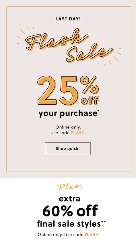 j.crew - flash sale