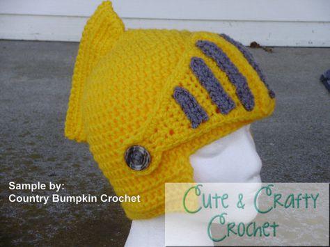Instant Download PDF - Sir Knight Helmet Crochet Pattern | VIKINGOS ...