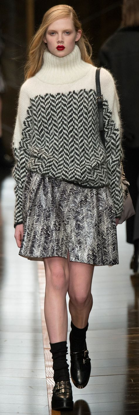 Trussardi - Fall 2014-knitspiration You can keep the skirt, but I love the sweater!