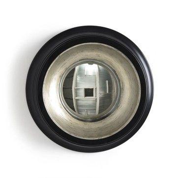 Chehoma Miroir Convexe octogonal Noir