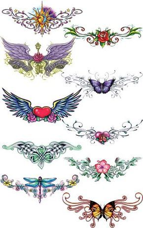 Lower Back Tattoo Designs for Girls