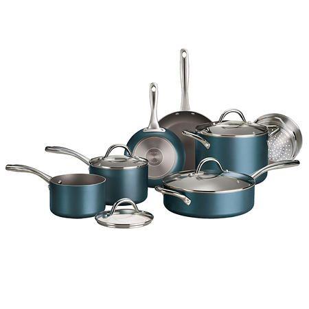 Tramontina 11 Piece Nonstick Cookware Set Assorted Colors Sam S Club In 2020 Nonstick Cookware Cookware Set Kitchen Cookware Sets