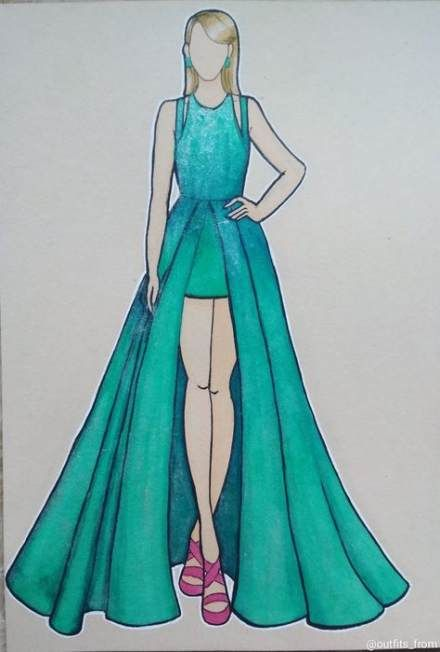 Drawing Clothes Sketches Dresses 56 Best Ideas #drawing in ...