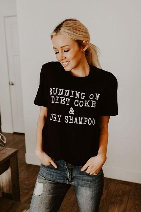 Running on diet coke  Tshirt, Women tshirts, casual shirt, fashion tshirt by KikiTshirts on Etsy
