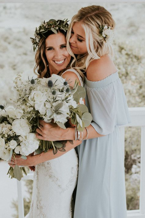 5313083ac311c Flowers by Lace and Lilies, hair crown, garden rose, thistle, flower crown,  foliage, bride hair flowers, bridesmaid flowers, summer wedding, ...