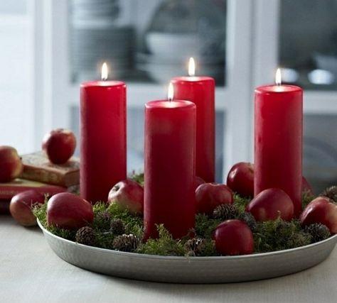 Advent Deco Gorgeous Red Candles Deko Kerzen Weihnachten Rote