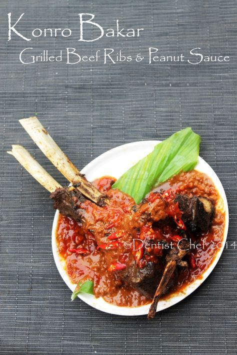 Resep Sup Konro Bakar Iga Sapi Khas Makassar Indonesian Spicy Beef Ribs Soup Barbequed With Peanut Sauce Resep Daging Sapi Resep Sup Masakan