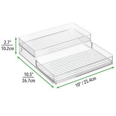 Mdesign Plastic Spice Rack Caddy Kitchen Food Storage Rack 2