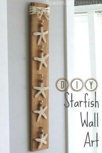 Diy Seashell Wall Art Decor Ideas In 2020 Wood Wall Art Decor