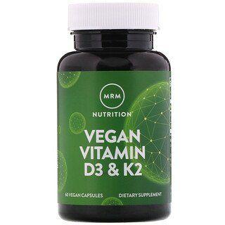 Mrm Vegan Vitamin D3 K2 60 Vegan Capsules In 2020 Vegan Vitamins Vitamins Vegan Vitamin D