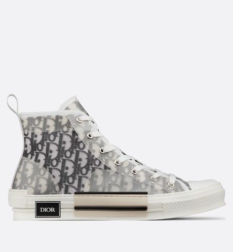 B23 High-Top Sneakers in Dior Oblique - Dior | Chaussures ...