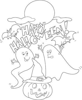 Felice Halloween Con I Mostri Disegni Da Colorare Disegni Da