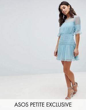 79d8b6a5a ASOS PETITE Mesh Dobby Skater Dress | Fashion | Dresses, Latest ...