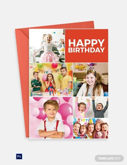 Photo Birthday Greeting Card Template Psd In 2020 Birthday Greeting Cards Greeting Card Template Greeting Cards