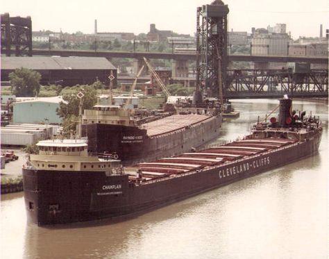 Sheboygan Harbor   C. Reiss Coal delivers in the 60s