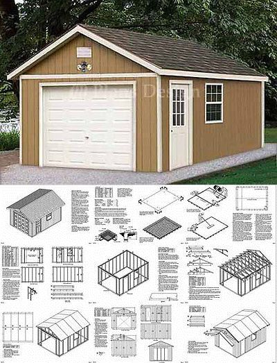 12 X 20 Garage Plans Shed Building Blueprints Design 51220 Garage Plans Building A Shed Shed
