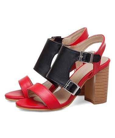 Love this Red \u0026 Black Stacked Sandal