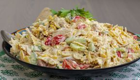 Kramig Pastasallad Med Kyckling Pastasallad Matratt Recept