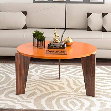 Decornation Aurora Wooden Coffee Table Tail Center For Living