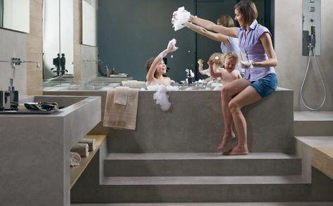 Anche il momento del bagno può essere speciale! Per realizzare un bagno accogliente, moderno e minimal, Microtopping® è perfetto! #Microtopping #bathroom #interiordesign
