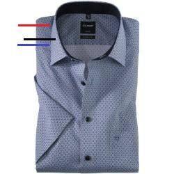 Ubergrosse Olymp Luxor Modern Fit Businesshemd Kurzarm In Hellblau Fur Herren Schnitt Modern Fit Modisch Geschnitten Details Olymp Hemden Business Hemden Kontrastfarbe Und Stehkragen