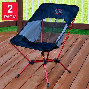 29 97 Timber Ridge Lightweight Backpacking Chair 2 Pack