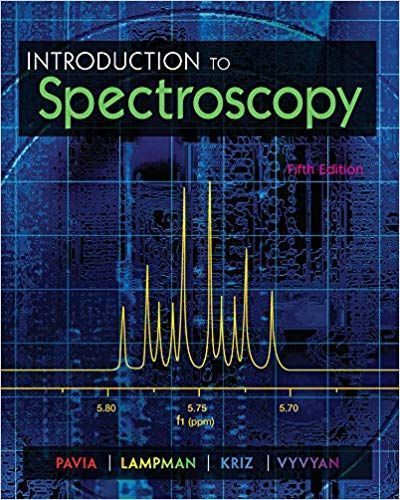 Introduction To Spectroscopy 5th Edition By Donald L Pavia Pavia Chemistry Textbook Cengage Learning