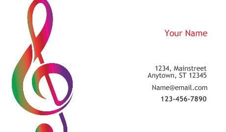 General Musician Singer Business Cards Singer Musician Business Card Business Card Template Design Business Card Template