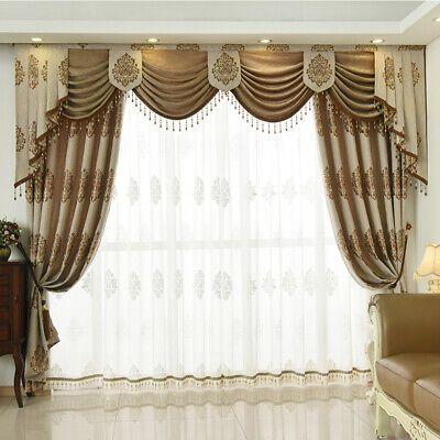 European Luxury Living Room Cotton Jacquard Cloth Blackout Curtain Valance N013 Ebay Living Room Drapes Curtains Living Room Luxury Living Room