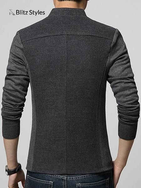 Men's Daily Street chic Spring / Fall Plus Size Regular Blazer, Solid Colored Stand Long Sleeve Cotton / Acrylic / Polyester Gray / Navy Blue /Wine Business Casual / Slim  #mens jackets military #mens coats #mens coats fashion #men coat #men coat fashion #men jacket #mens blazer #mens blazer fashion #mens blazer casual #mens blazer business casual #mens fashion #mens fashion casual #mens fashion vintage #mens clothing styles #Free shipping #men fashion casual #mens fashion #mens fashion clothing