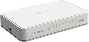 NETGEAR 8 Port Gigabit Ethernet Unmanaged Switch Desktop Internet Splitter Smart