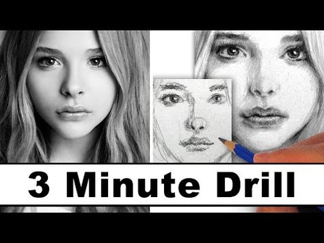fc46edf532c0 How to Draw Chloe Moretz in 3 Minutes - YouTube