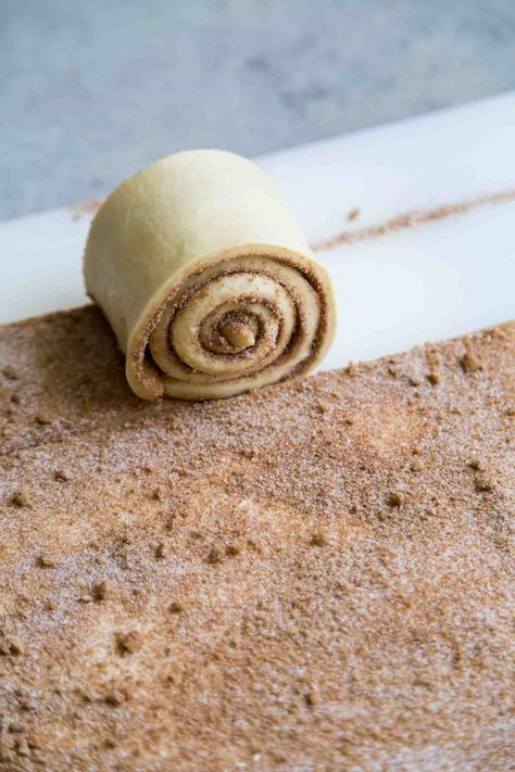 Birthday Cinnamon Roll Cake with Cream Cheese- The Little Epicurean