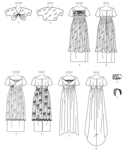 Butterick sewing pattern 6190 Misses/'s Vintage Style Costume Robe