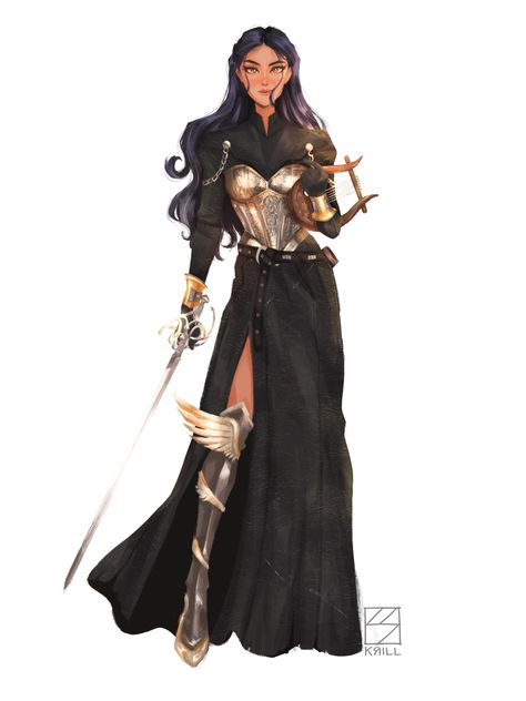 Post with 1687 votes and 85695 views. Tagged with dnd, bard, rapier, armored; Commission of my female Aasimar Bard blew me away. Dungeons And Dragons Characters, Dnd Characters, Female Characters, Fantasy Characters, Fantasy Character Design, Character Design Inspiration, Character Art, Female Character Concept, Animation Character