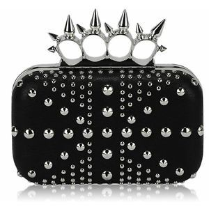 LeahWard Women/'s Faux Leather Clutch Bag Wedding Studded Cross Body Handbags