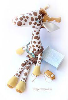 Boneca de Pano: Girafa de tecido poá- passo a passo