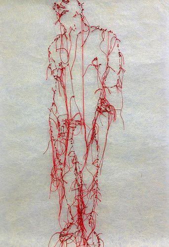 H1 lio saint sebastien broderie rouge   by GUACOLDA artiste