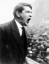 The Easter Uprising, as it came to be known, was soon put down by a wave of British troops and Michael Collins was sent to a Welsh prison.