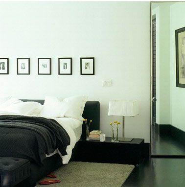 Déco chambre noir et blanc… Et gris, Idées chic | CHAMBRES | Déco ...