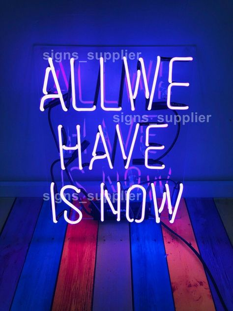 65 New Purple All We Have Is Now Acrylic Neon Sign 14 Light Lamp Bar Wall Display Ebay Neon Signs Wall Bar Neon