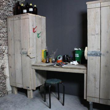 Bureau Met Kasten Steigerhout Boomhutbed Bed Van